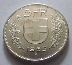 Image #1 of 5 Francs 1965