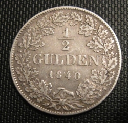 Image #1 of 1/2 Gulden 1840