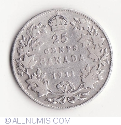 Image #1 of 25 Cents 1911