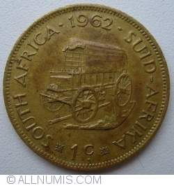 Image #1 of 1 Cent 1962