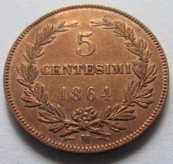 5 Centesimi 1864 M