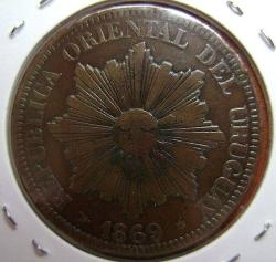 Image #2 of 4 Centesimos 1869 H