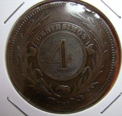 Image #1 of 4 Centesimos 1869 H