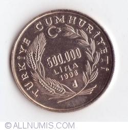 Image #1 of 500000 Lira - 2 Euro 1998