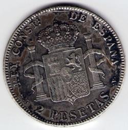 Image #1 of 2 Pesetas 1905 (05) SM-V