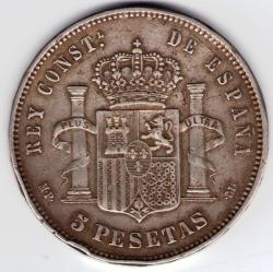 Imaginea #1 a 5 Pesetas 1888 (88) MP-M