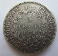 Image #1 of 5 Francs 1873 K