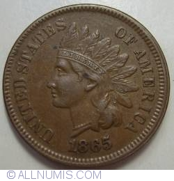 Image #2 of Indian Head Cent 1865 (fancy 5)