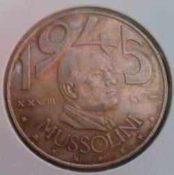 Imaginea #2 a 20 Lire 1945 - Mussolini