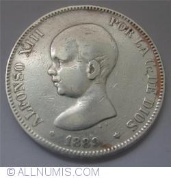 Imaginea #2 a 5 Pesetas 1889 (89) MP-M