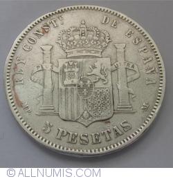 Imaginea #1 a 5 Pesetas 1889 (89) MP-M