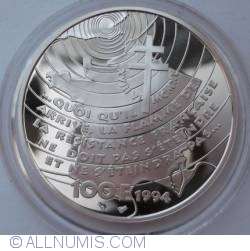 Image #1 of 100 Francs 1994 - Appel du 18 juin 1940
