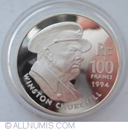Image #1 of 100 Francs 1994 Winston Churchill