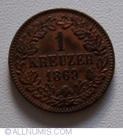 Image #1 of 1 Kreuzer 1869