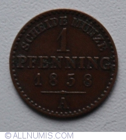 Image #1 of 1 Pfennig 1858 A