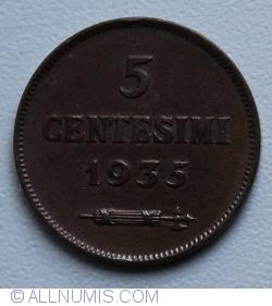 Imaginea #1 a 5 Centesimi 1935