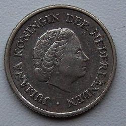 Imaginea #2 a 1/4 Gulden 1954