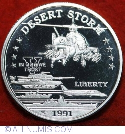 Imaginea #2 a 25 Dollars 1991 - Desert Storm - U.S. AH-64 Apache Attack Helicopter