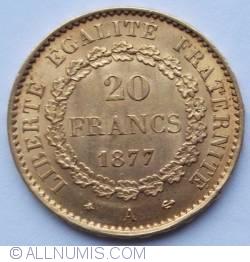 Image #1 of 20 Francs 1877