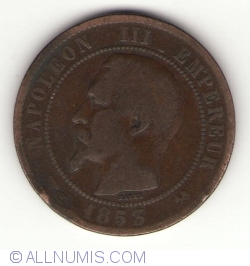 Image #2 of 10 Centimes 1853 B
