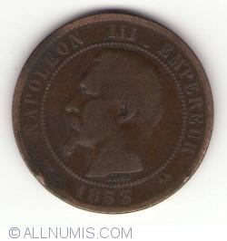 Imaginea #2 a 10 Centimes 1853 B
