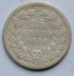 Image #1 of 25 Cents 1848 (dot after date)
