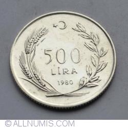 Image #1 of 500 Lira 1980