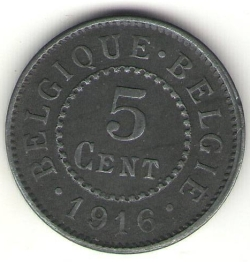 Image #1 of 5 Centimes 1916