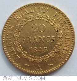 Image #1 of 20 Francs 1848 A