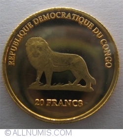 Image #1 of 20 Francs 2000 - Papal Visit