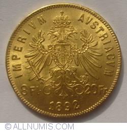 Image #1 of 8 Florins - 20 Francs 1892 Restrike