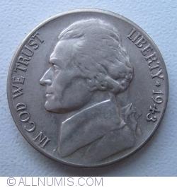 Image #2 of Jefferson Nickel 1943 S