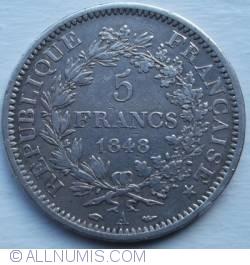 Imaginea #1 a 5 Franci 1848