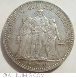 Image #2 of 5 Francs 1874 A