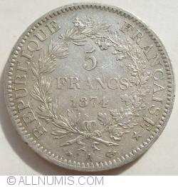 Image #1 of 5 Francs 1874 A