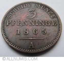 Image #1 of 3 Pfenninge 1865 A