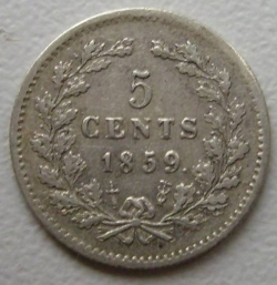 Image #1 of 5 Cents 1859