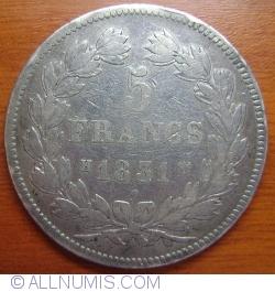 Image #1 of 5 Francs 1831 H