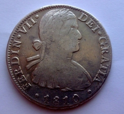 Image #2 of 8 Reales 1810 Mo HJ