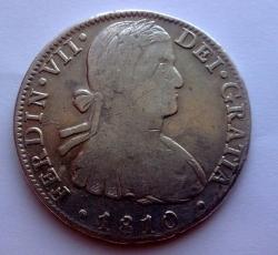 Imaginea #2 a 8 Reales 1810 Mo HJ