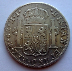 Image #1 of 8 Reales 1810 Mo HJ