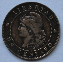 Image #1 of 1 Centavo 1885