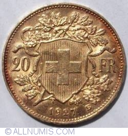 Imaginea #1 a 20 Franci 1927