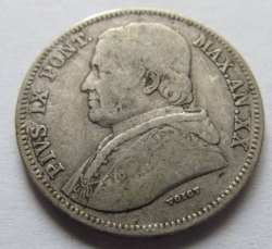 Imaginea #2 a 20 Baiocchi 1865 (XIX)