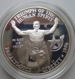 Image #2 of 1 Dollar 1996 P - Atlanta Paralympics