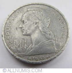 Imaginea #2 a 5 Franci 1955
