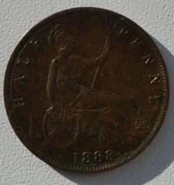 Halfpenny 1888
