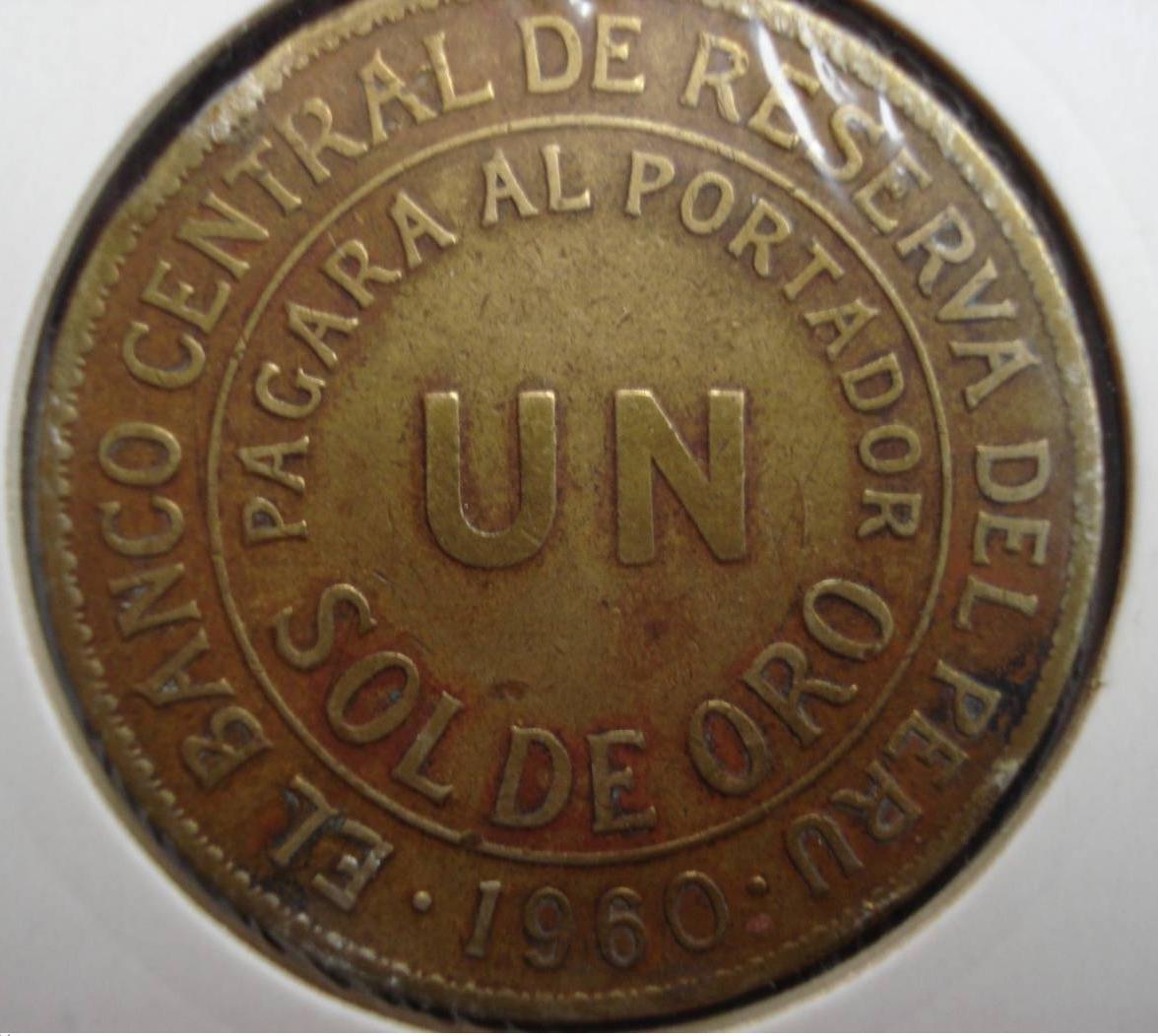 1 Sol De Oro 1960 Republica 1941 1960 Peru Monedă