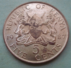 Image #1 of 5 Cents 1987