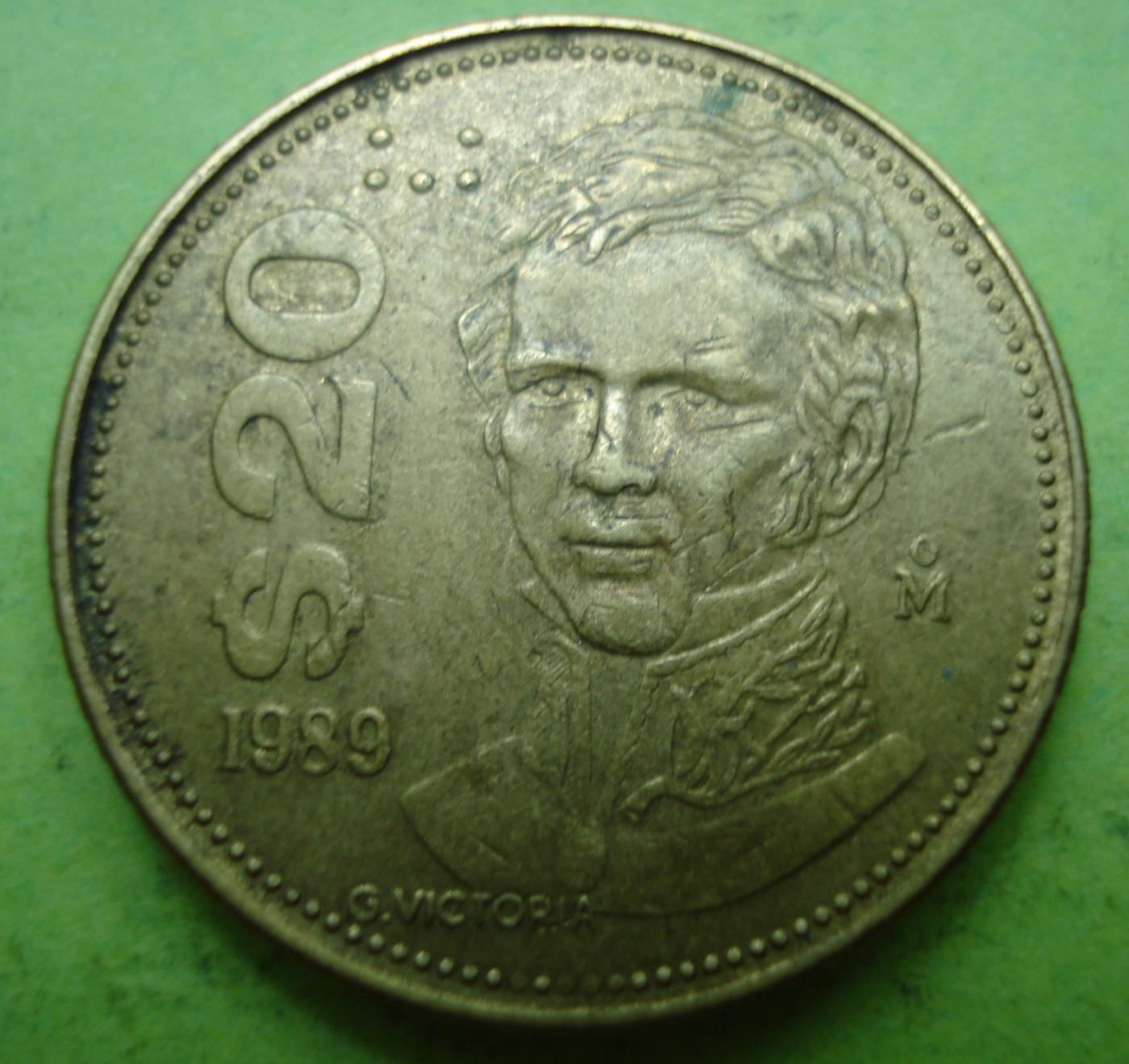 20 Pesos 1989 United Mexican States 1981 1990 Mexico